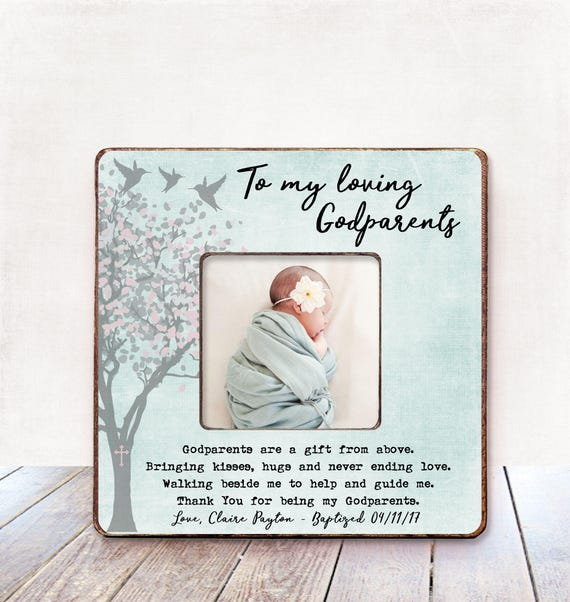 GODPARENTS Gift Baptism Gift for Godparents Christening Gift ...