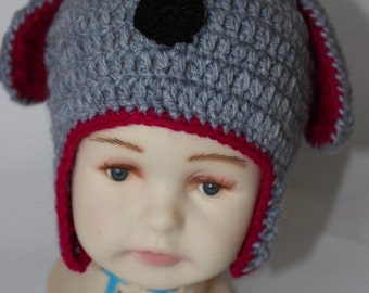 Puppy Hat, Handmade, Hand Crocheted Hat for Boys and Girls