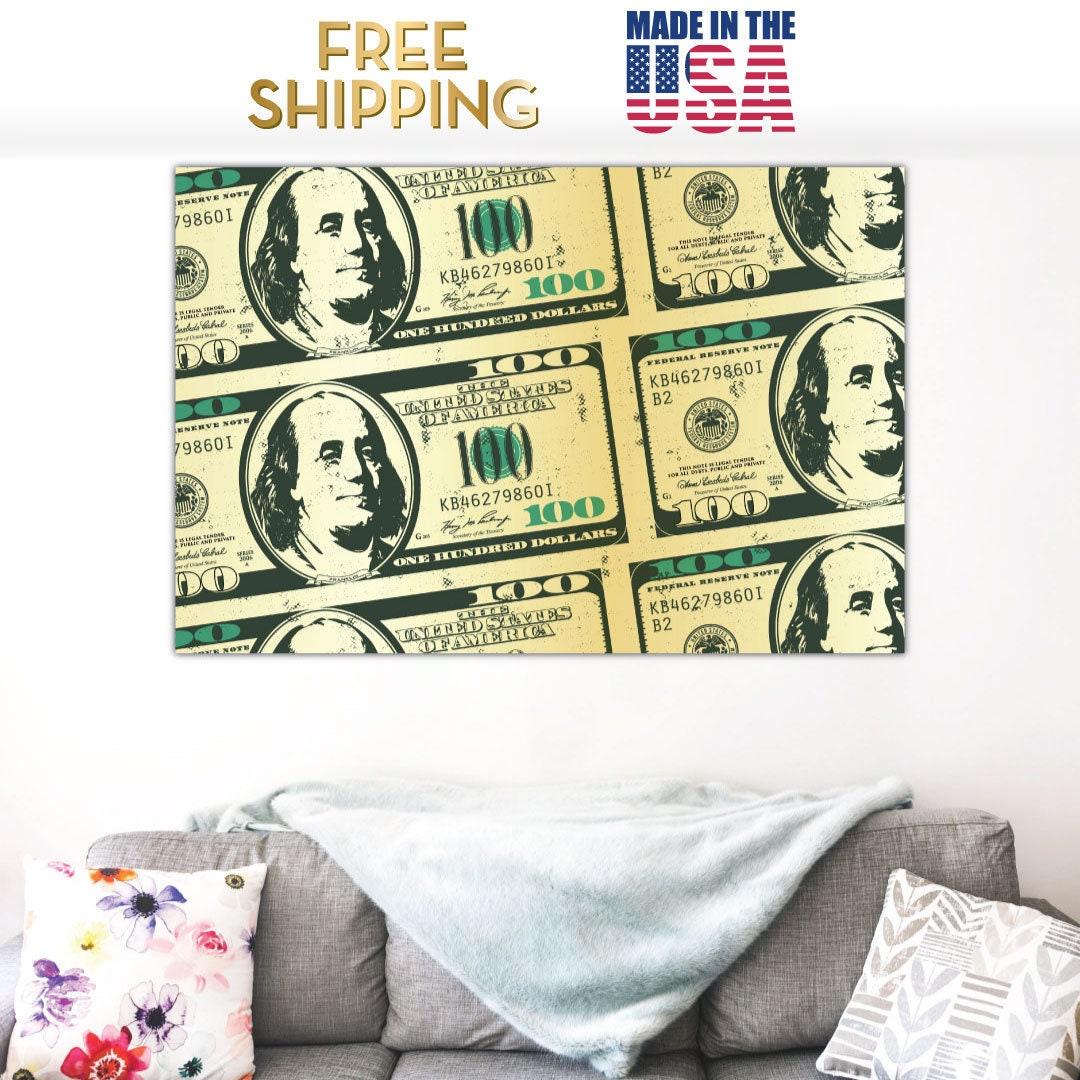 Money Art 100 Dollar Bill Motivation Ready to Hang