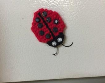Ladybug magnet needlepoint plastic canvas