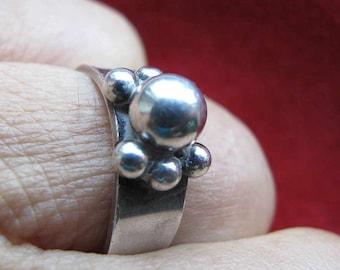 Erik Granit silver ring, Finland ring, Finnish ring, Erik Granit ring, finland jewelry, Finnish jewelry, Scandinavian modern silver