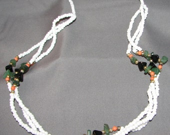 Vintage Spring Fresh Glass Bead Necklace 5574 Gift Box Free Ship