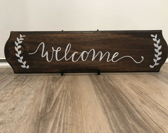 Rustic Welcome wooden sign