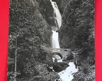 Vintage Real Photo Postcard, Wahkeena Falls, Columbia River Gorge, Oregon, Wonderful Post Card Collectible