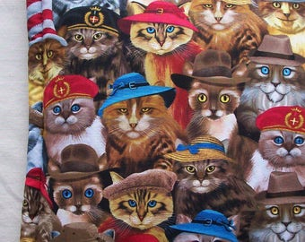 Catnip Cushion - Cats in Hats Mat -Colorful Catmint Pillow Bed - Cat Gift
