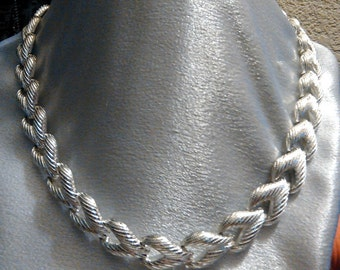 Vintage Silver Riveted Choker, Necklace
