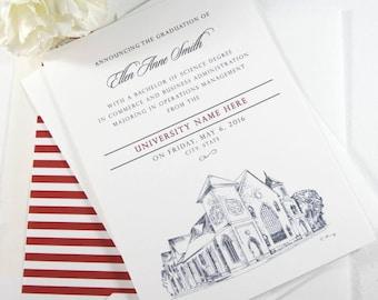 Utah Valley University Graduation Announcement, Utah, University, College, Tech, Grad Invitations, Cards (set of 25)