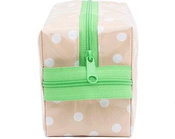 Oilcloth Makeup Bag Cosmetic Case Medium