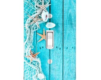 Beach Decor Light Switch Cover, Starfish Seaside, Bathroom Decor,  Housewarming Gift, Lighting