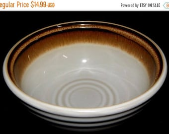 ON SALE Noritake FANFARE 8621 Coupe Cereal Bowl Brown Bands, Beige Body, Near Mint Condition Dinnerware a 24.00 value Circa 1978 thru 1990