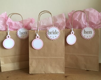 Hen Party Bags with Badge and Label