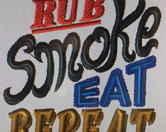 """Embroidered BBQ """"Barbecue"""" Apron"""