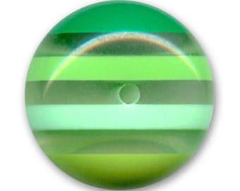 Diameter 20 mm Green flat round bead