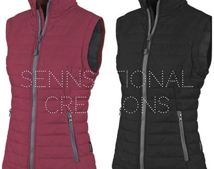Monogrammed Vest, Monogrammed Puffy Vest, Quilted Vest, Monogrammed Outerwear, Vest, Gift for Her, Winter Wear