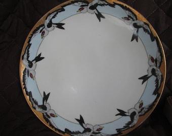 Limoge Plate Bird Design