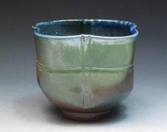 Jane Hamlyn Salt Fired Teabowl, Studio Pottery Teabowl, British Pottery