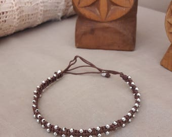 Bollywood style Brown ankle bracelet