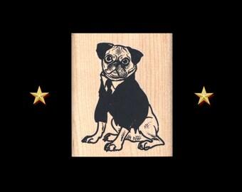 PUG Rubber Stamp, Pug Stamp, Pug Gift, Pug Art, Pug Dog, Pug Clothes, Dog Rubber Stamp, Dog Stamp, Pug Accessories, Pug Mom, Pug Costume
