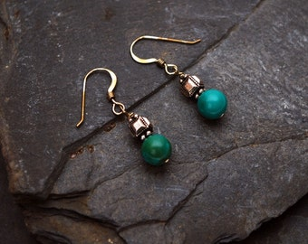 Chinese Turquoise and Silver earrings
