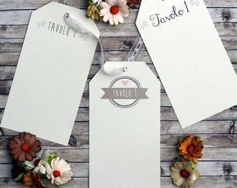 6 cards for Tableau de mariage
