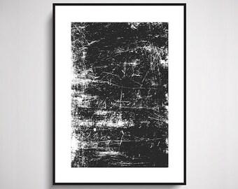 Rusted Peeled Metal Texture Print