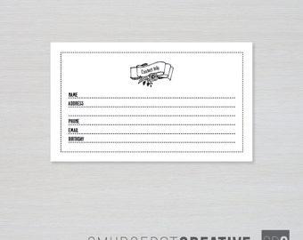 recipe cards 3 x 5