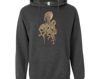 Octopus Hoodie, Wildlife Sweatshirt, Ocean Hoodie, Independent Trading