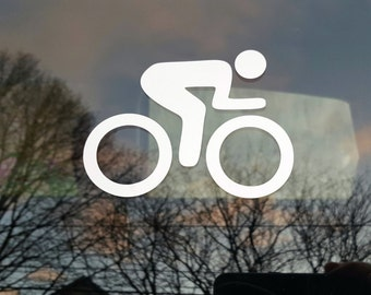 Cycling decal - male - car windows, laptop