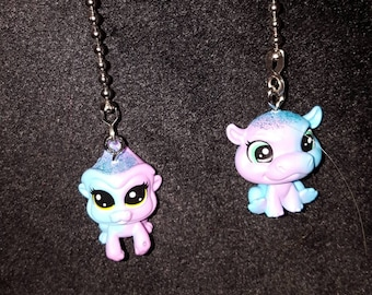 Littlest Pet Shop  Characters Ceiling Fan Pulls.  Indiglow Apely, Cerulea Sparkle