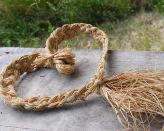 Braided Raffia Heart - Wall Hanging, Seasonal, Autumn Decor