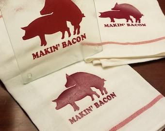 Makin' Bacon Towel & Trivet Set