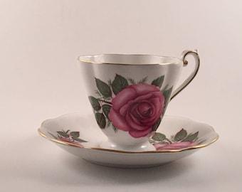 Royal Standard Pink Rose Tea Cup and Saucer