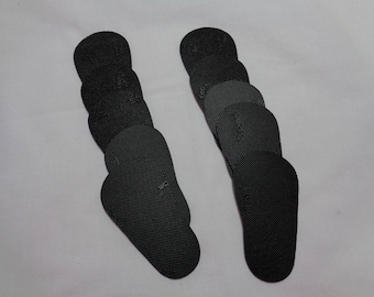 5 Sets of BLACK  Rubber Shoe Soles- Covers the bottom of  5 pairs of shoes for 18 inch dolls- such as the American Girl Dolls
