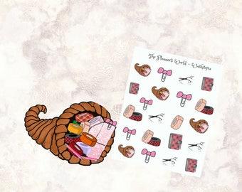 Washicopia - Cornucopia - Planner Stickers - planning time stickers - planning stickers - planner stickers - scissors - washi - MS039
