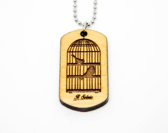 Dogtag Wood aviary birds Nature Pets cage