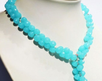 Chalcedony necklace & silver