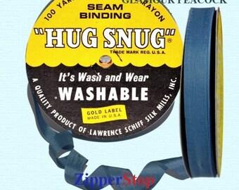 "GLAMOUR PEACOCK - Hug Snug Seam Binding - 100 yard roll 1/2"" Wide - 100% Woven-Edge Rayon - Sewing Trim & Craft Supply - Wholesale ribbon"