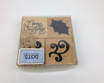 DOT Stamp Kit - 4 Piece Merry Christmas Stamps - Free Shipping