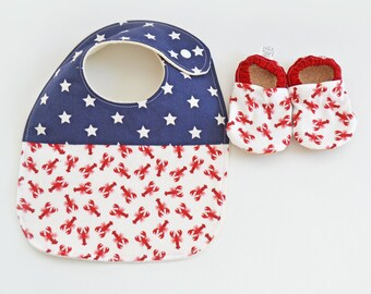 Nautical Baby Gift, Maine Gifts, Maine Baby, Made in Maine, Lobster Baby, New Baby Gift, Baby Shower Gift Idea, Gift for Baby under 50, Red