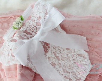 baby girl Romper,newborn lace outfit,baby white romper,baby girl shower gift,baby lace romper set,newborn photo prop