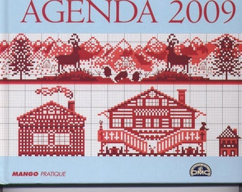 Book calendar 2009 on the theme of the mountain - cross stitch
