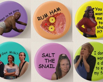 "It's Always Sunny 1"" Pinback Button Set of 6"