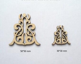 Laser cut wood ornamental detail 179 / Laser cut / Wood shapes / Laser / Wood ornament/ Wood charms/ Wood crafts/ Wood laser cut /Wood decor