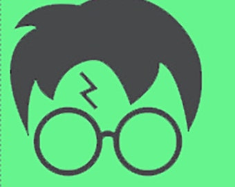 Computer lid sticker Harry Potter Scar without or without hair- Computer Vinyl - computer Harry Potter vinyl - Harry Potter glasses