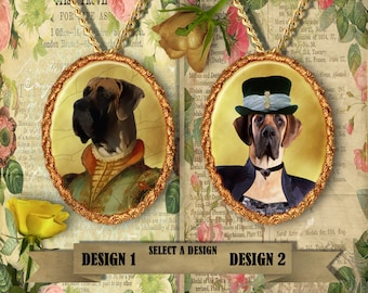 Great Dane Jewelry. Great Dane Pendant or Brooch. Great Dane Necklace. Giant Great Dane Portrait. Custom Dog Jewelry. Dog Handmade Jewelry