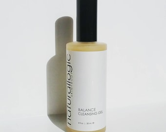 BALANCE Cleansing Gel. Acne Face Wash. Face Cleanser. Cystic Acne. Acne Treatment. Oily Skin.  Natural Organic Skin Care. Vegan.
