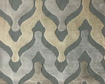 Upholstery Fabric - Leicester - Glacier - Cut Velvet Home Decor Upholstery, Drapery, & Pillow Fabric by the Yard - Available in 13 Colors