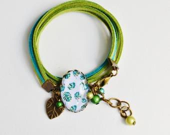 Green tropical bracelet