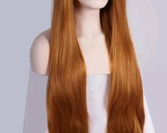 Beautiful strawberry blonde 26in lace front wig