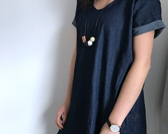 Jean Shift Dress
